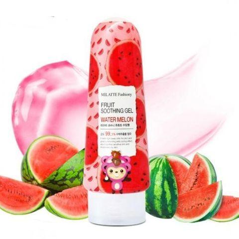 Milatte Fashiony Fruit Soothing Gel Water Melon гель для лица и тела многофункциональный с экстрактом арбуза