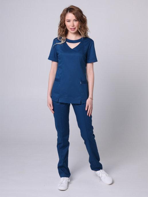 Элегантная медицинская блуза Бл-351