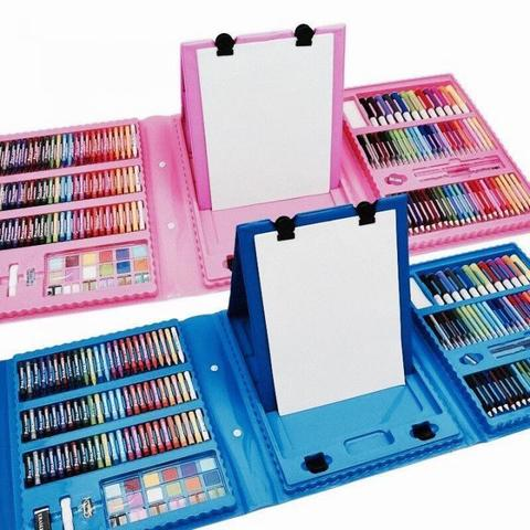 Набор для творчества в кейсе Super Mega Art Set, 208 предметов (голубой)