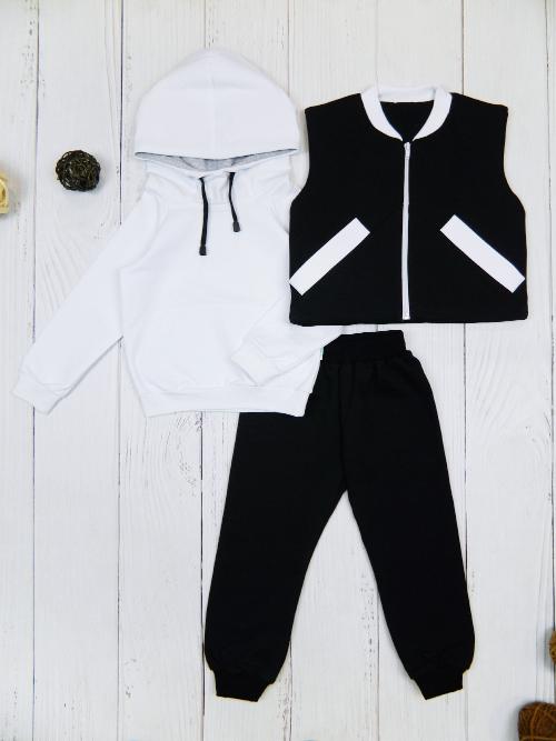 Костюм 3081, бело-черный