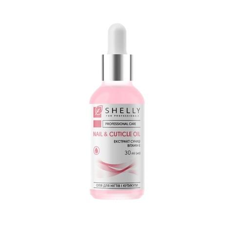 Олія для нігтів і кутикули з екстрактом суниці  та вітаміном Е Shelly 30 мл (1)