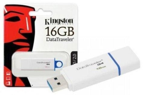 USB флэш-диск Kingston 16GB DTIG4 белый/синий, USB3.0