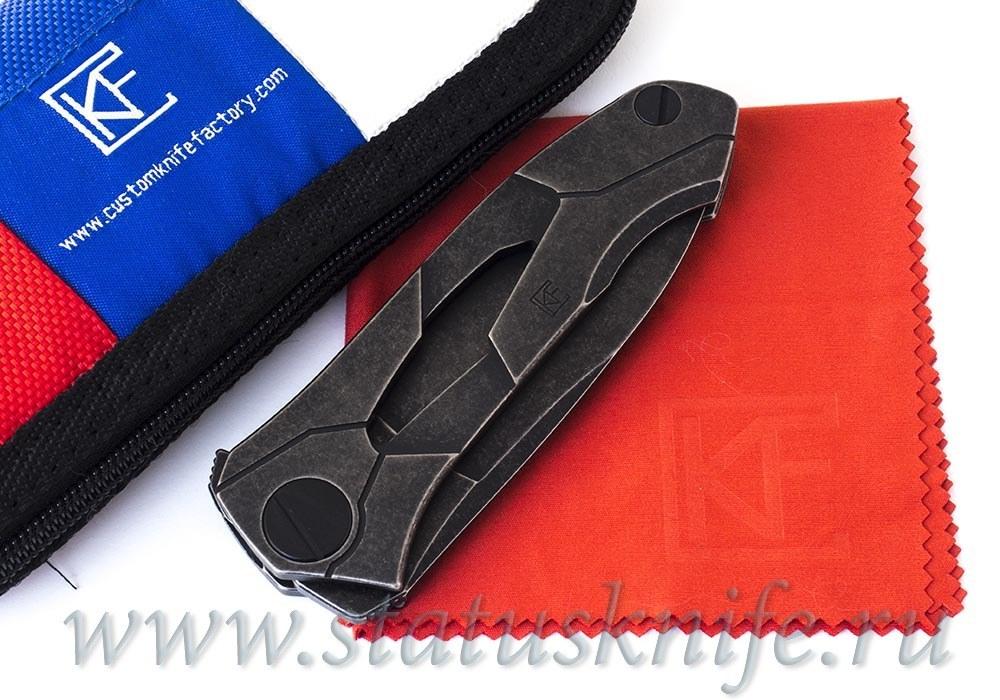 Нож Ратата BLK #30 CKF (Коныгин, М390, титан, подшипники) Ratata