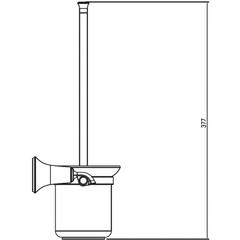 Держатель для туалетной щетки (ершик) настенный KAISER Bronze II KH-4006 схема