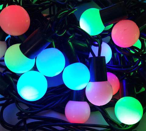 LED RGB шарики мультик разноцветные гирлянды шарики