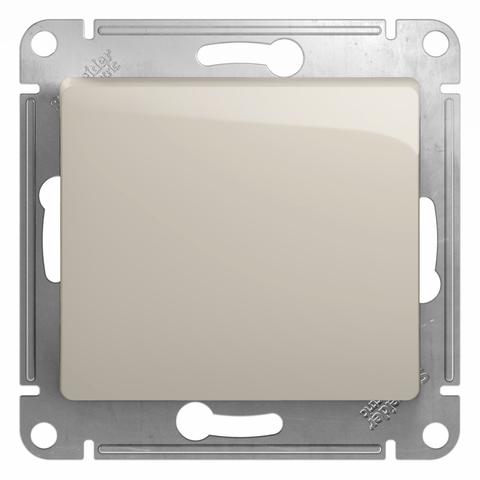 Выключатель одноклавишный, 10АХ. Цвет Молочный. Schneider Electric Glossa. GSL000911
