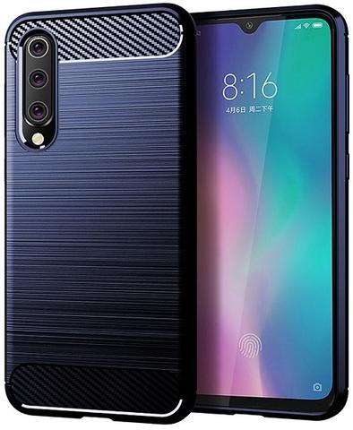 Чехол для Xiaomi Mi 9 SE цвет Blue (синий), серия Carbon от Caseport