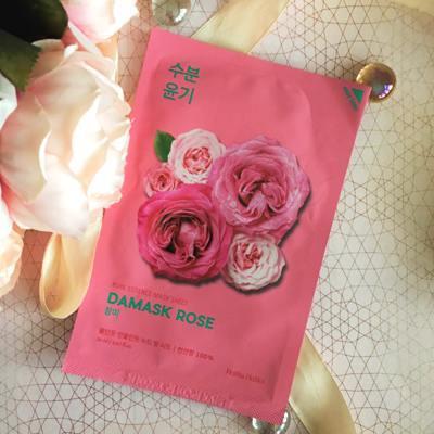 Увлажняющая тканевая маска с Дамасской розой Holika Holika Damask Rose Pure Essence Mask Sheet