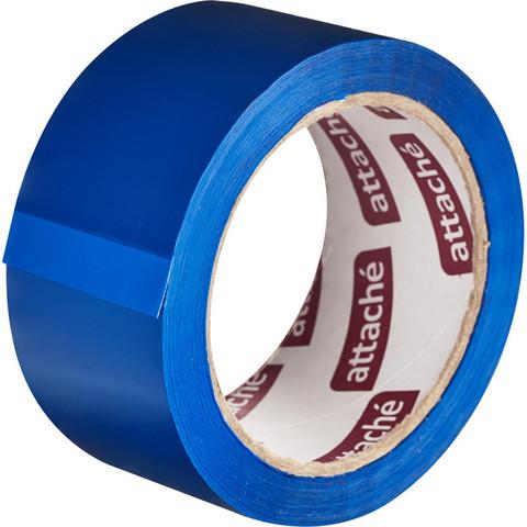Скотч клейкая лента упаковочная Attache синяя 48 мм x 66 м толщина 45 мкм