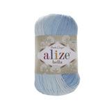 Пряжа Alize Bella Batik меланж светло-голубой 2130