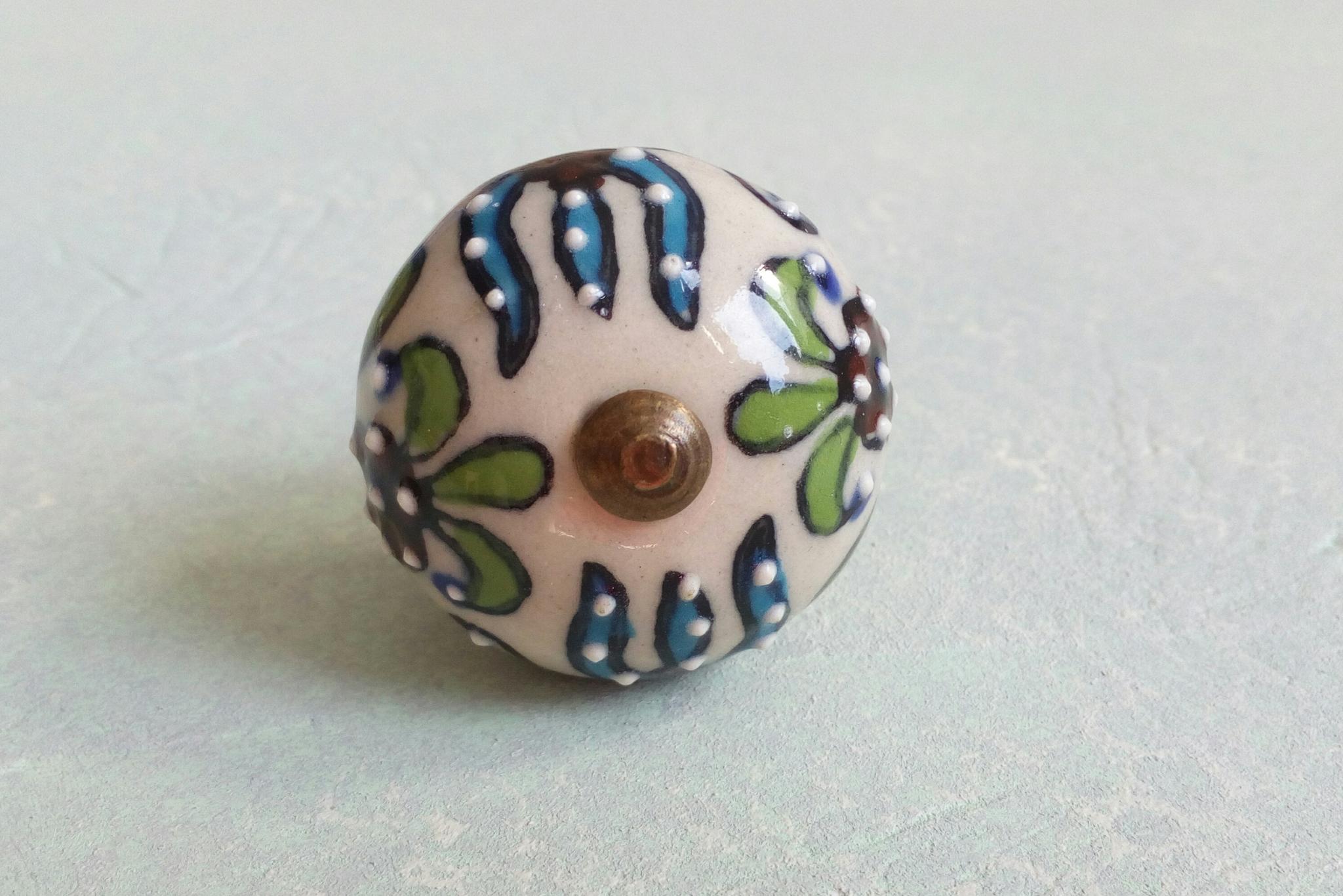 Ручка мебельная керамическая  расписная √42,  00001042