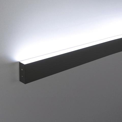 Линейный светодиодный накладной односторонний светильник 78см 15Вт 6500К черная шагрень LS-02-1-78-6500-MSh