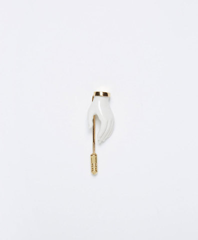 Брошь Little Hand pin White