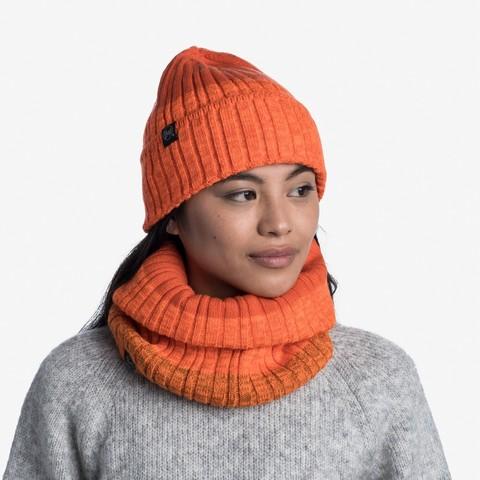 Комплект шапка шарф вязаный с флисом Buff Igor Fire фото 1