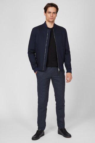 Мужские синие шерстяные брюки HMT HERRINGBONE PULL ON Tommy Hilfiger