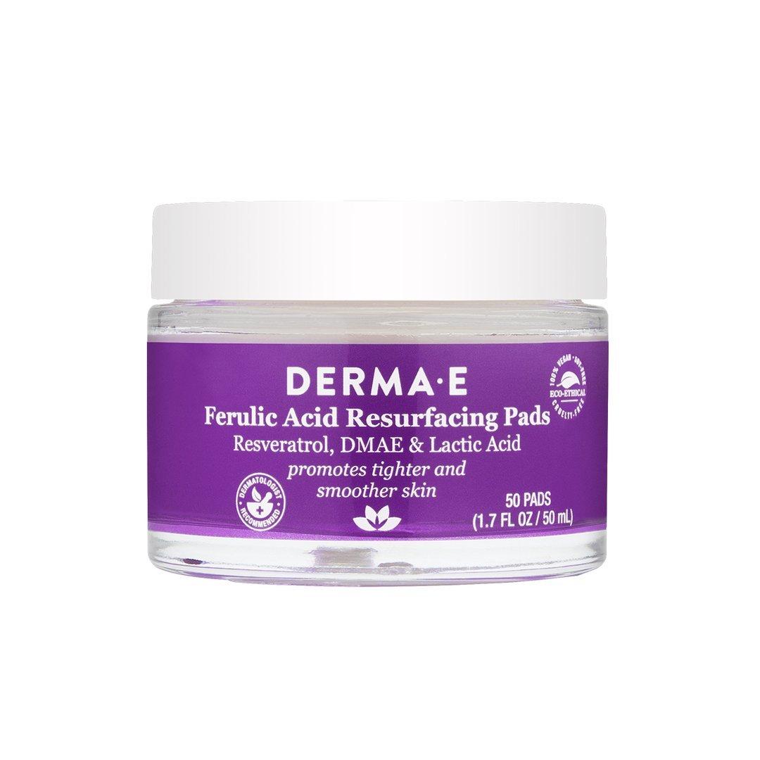 Пэды обновляющие с феруловой кислотой Derma E Ferulic Acid Resurfacing Pads 50 шт