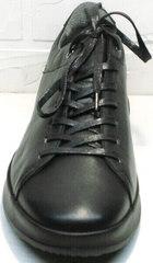 Осенние кроссовки туфли мужские кожаные Ikoc 1725-1 Black.