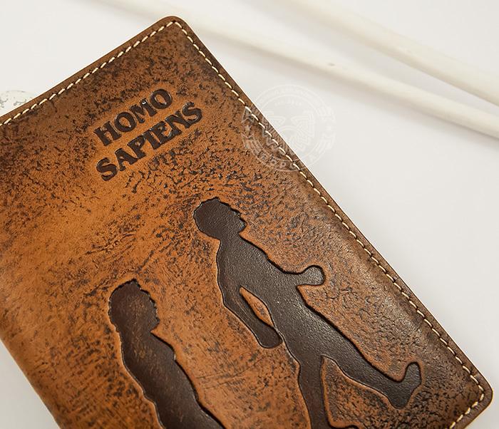 BY14-26-02 Обложка для паспорта «Homo Sapiens» из натуральной кожи фото 04