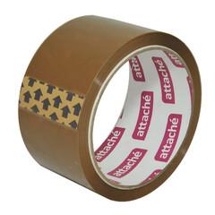 Скотч клейкая лента упаковочная Attache коричневая 50 мм x 50 м толщина 40 мкм