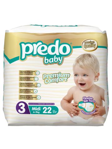 Predo. Подгузники Baby Экономичная пачка № 3 (4-9 кг Midi), 22 шт.