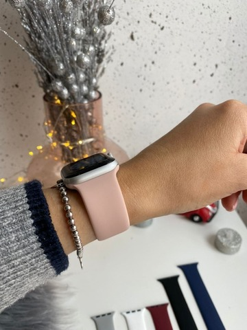 Ремешок Apple Watch 42/44 mm Solo Loop /pink sand/