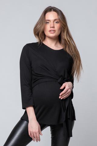 Блузка для беременных и кормящих 10763 черный