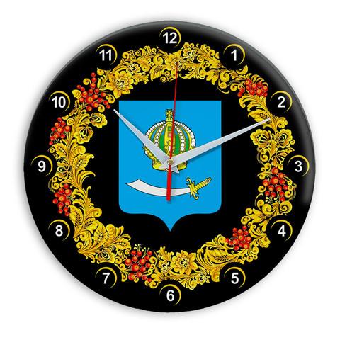 Часы в стиле Хохлома сувенирные Астрахань