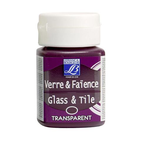 Краска по стеклу и керамике Lefranc&Bourgeois Glass&Tile 50 мл Непрозрачная 407, индийская роза