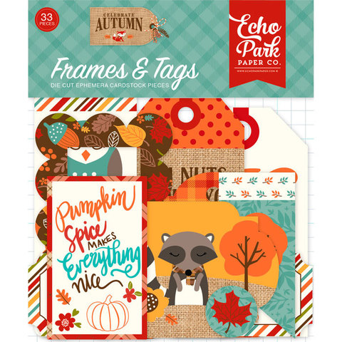 Набор высечек Celebrate Autumn Frames & Tags  Ephemera, 33 шт