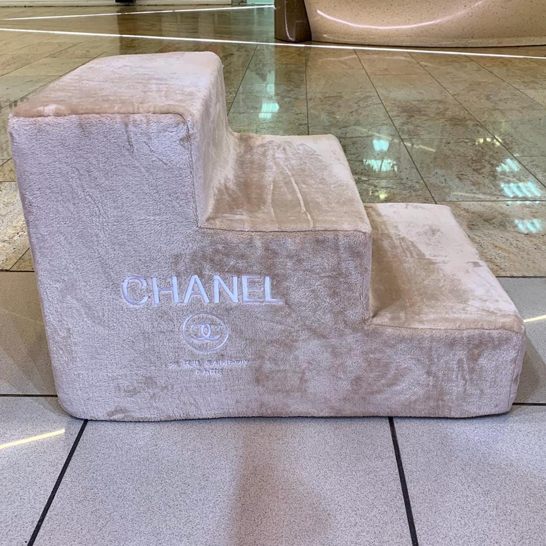 1929 Ступеньки для собак Chanel бежевые