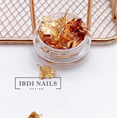 Слюда для ногтей (розовое золото)