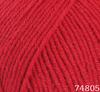 Пряжа LANA LUX 74805 (Красный)