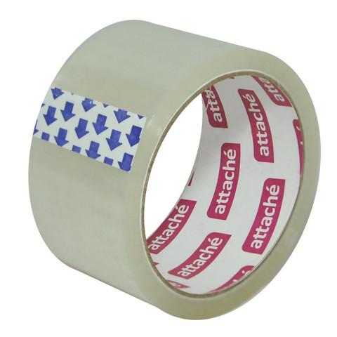 Скотч клейкая лента упаковочная Attache прозрачная 50 мм x 50 м толщина 40 мкм