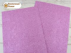 Фоамиран с блестками розовый 2мм (уценка)
