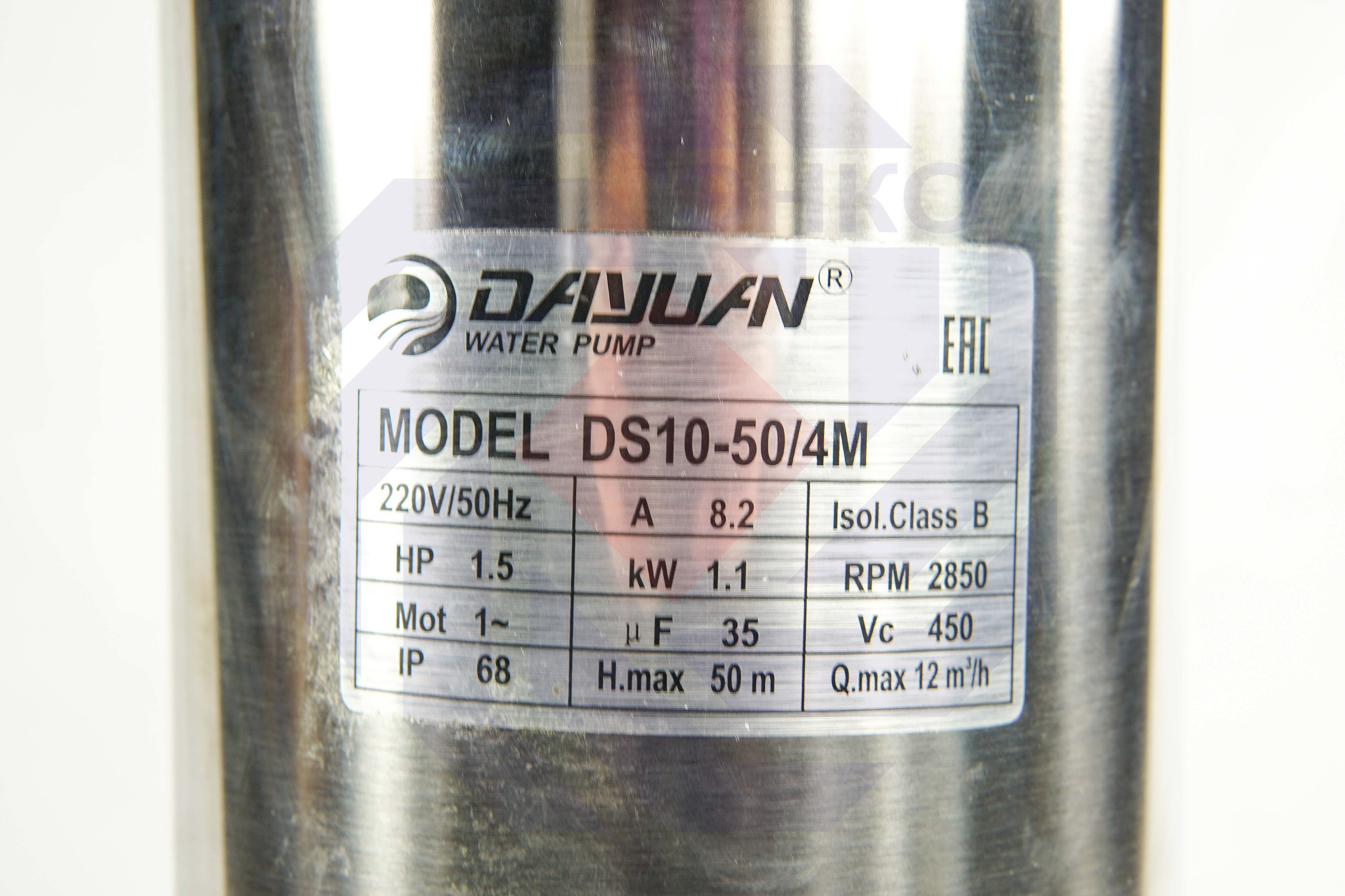Насос колодезный DAYUAN DS 10-50/4M