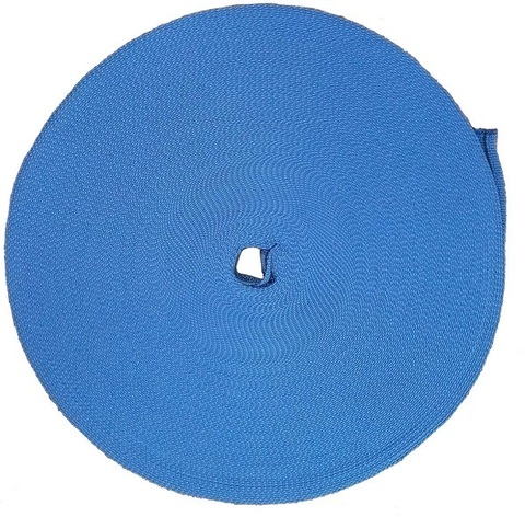 Стропа буксировочная (тёмно-синяя) 2,5т. 100м. ширина 35мм СЕРВИС КЛЮЧ (73771)