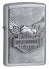 Зажигалка Zippo Harley-Davidson, латунь/сталь с покрытием Street Chrome, серебристая, 36x12x56 мм