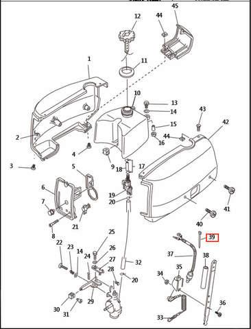 Хомут  для лодочного мотора T2,5 SEA-PRO (1-39)