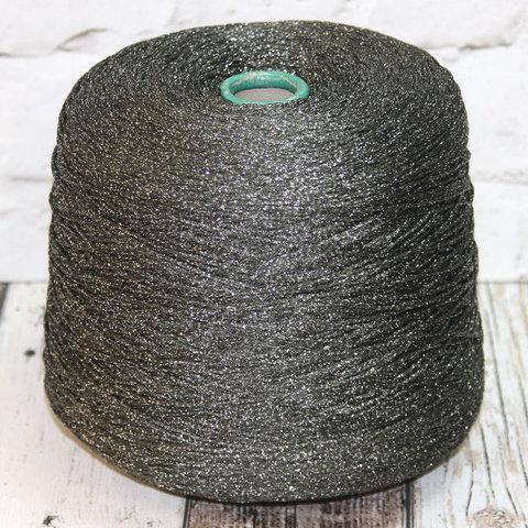 Смесовка хлопок с люрексом PICCHIO 300 графит с серебром