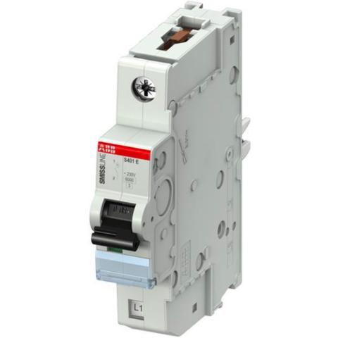 Автоматический выключатель 1-полюсный 6 А, тип B, 15 кА S401E-B6. ABB. 2CCS551001R0065