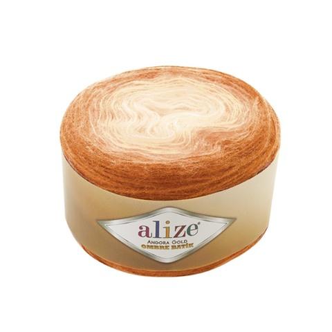 Купить Пряжа Alize Angora Gold Ombre Batik Цвет 7296 Оранжевый | Интернет-магазин пряжи «Пряха»