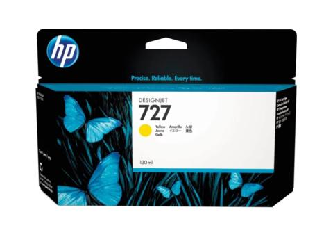 Оригинальный картридж струйный HP B3P21A (№727) желтый