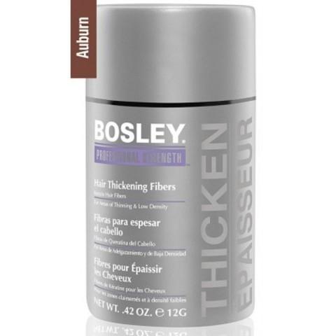 Bosley PRO Кератиновые волокна: Кератиновые волокна - красно-коричневые (Hair Thickening Fibers - Auburn), 12г