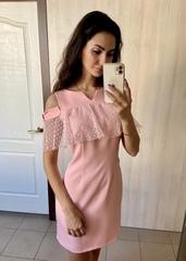 Грета. Молодіжна коктейльна сукня. Пудра