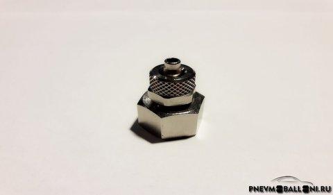 Прямой фитинг 1/2 с накидной гайкой (резьба
