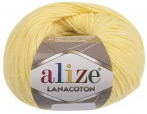 Пряжа Alize Lanacoton 187 лимон