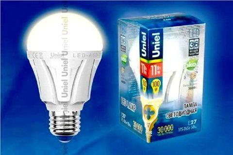 Uniel Лампа LED-A60-11W/WW/E27/FR Palazzo (теплый свет)