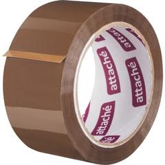 Скотч клейкая лента упаковочная Attache коричневая 50 мм x 66 м толщина 50 мкм (морозостойкая)