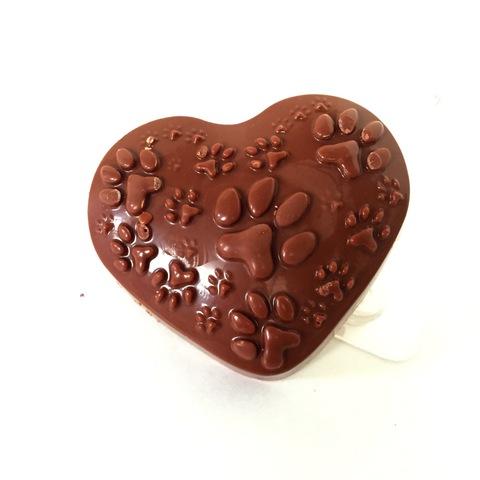 Пластиковая форма для шоколада жен. СОБАЧЬЕ СЕРДЦЕ 80х70мм
