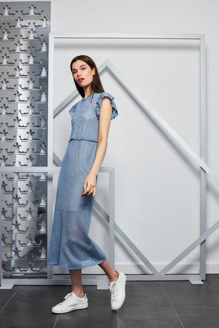 Liu Jo Платье миди вязаное с люрексом